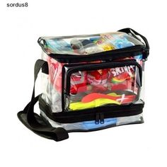 Clear 4 Compartment Lunchbox Men Women Kids Lunch Container Office School Camp