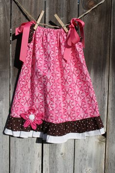 Cowgirl Pillowcase Dress in Pink by SweetnChicBoutiques on Etsy, $20.00