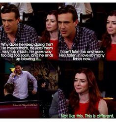 I love the realization on Lily's face. Ted and Tracy😍 Ted And Tracy, Marshall And Lily, How Met Your Mother, I Dont Fit In, Ted Mosby, Mothers Friend, Yellow Umbrella, Thank You Mom, Hooray For Hollywood