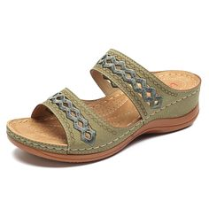 414f65713 Lostisy LOSTISY Handmade Stitching Comfortable Open Toe Casual Wedges  Sandals is comfortable to wear. Shop on NewChic to see other cheap women  sandals on ...