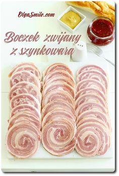 Bacon se valil s hamburgerem Redmond Home Made Sausage, Cold Cuts, Polish Recipes, Charcuterie, Bon Appetit, Bacon, Pork, Food And Drink, Homemade