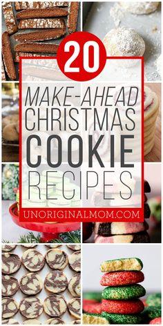 20 Make Ahead Christmas Cookies - unOriginal Mom