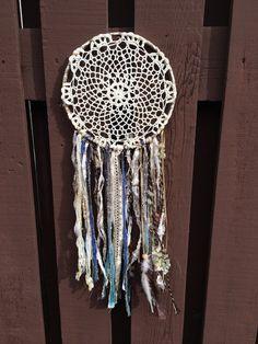 Large Gypsy Bohemian Dream Catcher Crochet Boho by WhaleSaid