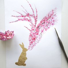 I Watercolor Cherry Blossom Animals | Bored Panda