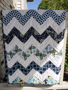 Maybe a zig zag for Keith, I have been pinning different ways to accomplish this look. Zig Zag Quilt, Modern Meadow
