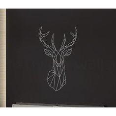 Geo Deer Head Free Shipping! Tattoo Decor Tattoo Decor