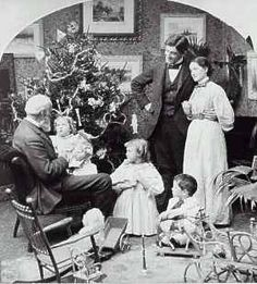 Victorian family with Grandpa..Christmas