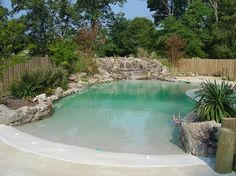 Having a pool sounds awesome especially if you are working with the best backyard pool landscaping ideas there is. How you design a proper backyard with a pool matters. Spas, Backyard Pool Landscaping, Backyard Beach, Beach Pool, Landscaping Ideas, Backyard Ideas, Zero Entry Pool, Inground Pool Designs, Natural Swimming Pools