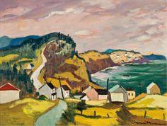 """Petite Riviere, Gaspé,"" Henri L. Masson, 1977, oil on canvas, 18 x 24"", private collection."