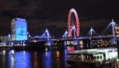Londra'nın gece görünümü