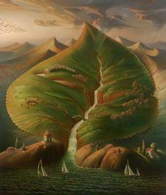"""Ocean sprouts"", de Vladimir Kush"