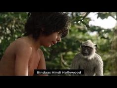 """The Jungle Book 2016 in Hindi : Baloo agrees to push Mowgli away to get him to continue onward to the man village. Mowgli is kidnapped by the """"Bandar-log"""" (m. Rabbi, Monkeys, Ash, Scene, King, Memes, Girls, Youtube, Books"""