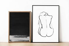 Drawing The Human Figure - Tips For Beginners - Drawing On Demand Figure Drawing Female, Black And White Painting, White Art, Minimal Drawings, Line Illustration, Minimalist Art, Large Art, Sculpture Art, Sculptures