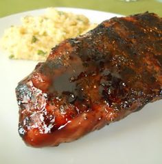 Brown Sugar and Balsamic Glazed Pork Loin grilled