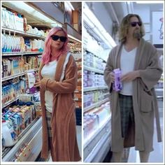 The Dude from The Big Lebowski: 35 Last-Minute Costumes You Can Totally Make The Day Before Halloween Because we know you procrastinated. Easy Couples Costumes, Couples Halloween, Kids Costumes Girls, Clever Costumes, Costume Halloween, Theme Halloween, Halloween Ideas, Halloween Office, Halloween Halloween