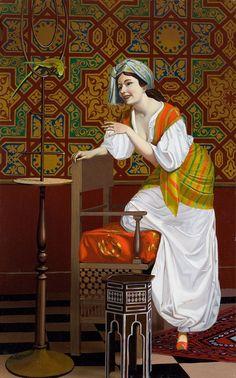 Islamic Paintings, Indian Paintings, Oil Painting On Canvas, Canvas Art, Woman Painting, L'art Du Portrait, Portraits, Arabian Art, Exotic Art