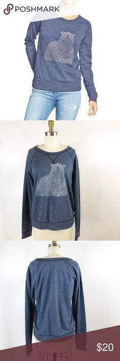 """Old Navy Polar Bear Sweatshirt Blue Cozy Winter There's nothing that says winter quite like a polar bear! Did you know that polar bears are considered a marine mammal? Well you do now! This sweatshirt is in vguc, bust measures 38"""" and length measures 24"""". Old Navy Tops Sweatshirts & Hoodies"""