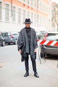 大判ストール、メンズファッション、着こなし、秋冬、流行、コーデ