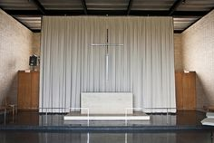 Mies van der Rohe's Robert F. Carr Memorial Chapel of St. Savior on the IIT campus.