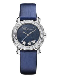 CHOPARD - Happy Sport Mini stainless steel and diamond watch | Selfridges.com