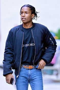 celebritiesofcolor: ASAP Rocky out in NYC || Follow @filetlondon for more street wear #filetlondon