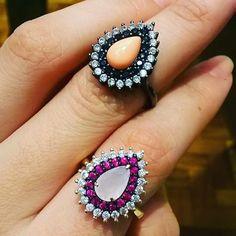 ❣ Lançamento na #dpaulasemijoias  Lindos  Destaque para a pedra na cor alaranjada, mais uma vez inovando em nossas peças, esperamos que tenham amado, assim como eu. Sigam . @oculos_designbh  #jewelry #joias #semijoias #luxo #moda #prata #fashion #acessorios #diamantes #brincos #euquero #silver #jewels #chic #jewellery #jewerly #pedras #Repin @dpaulasemijoias