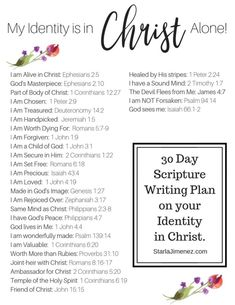 Identity in Christ Bible Verses. Identity in Christ bible study. Identity in Bible verses Christ. Identity in Christ Bible study. My Identity In Christ, Bibel Journal, Writing Plan, Scripture Reading, In Christ Alone, Bible Scriptures, Bible Quotes, Scripture Verses, Faith Quotes