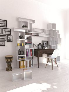 Sectional modular MDF storage wall by Cubit by Mymito #office
