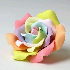 pastel gum paste rose