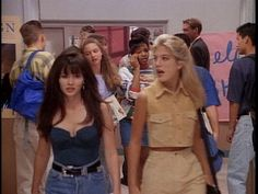 Shannen Doherty and Tori Spelling