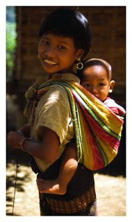 Babywearing in Laos