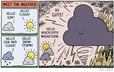 """""""Meet the Weather"""" by Tom Gauld"""