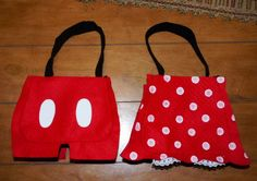 Mickey Minnie Mouse handmade party bags favors red polka dots lot