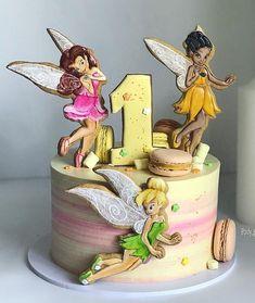 Cake 1st Birthday Cake For Girls, Baby Birthday Cakes, Fondant Girl, Fondant Cupcakes, Jasmine Cake, Ballerina Cakes, Fairy Cakes, Disney Cakes, Novelty Cakes