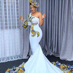 African Bridal Dress, African Print Wedding Dress, African Wedding Attire, African Prom Dresses, Latest African Fashion Dresses, African Print Fashion, African Attire, African Weddings, Nigerian Weddings