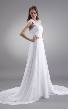 Gericht Schleppe natürliche Taile Empire sittsames Brautkleid mit Tüll mit Gürtel