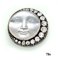 "Moonstone cameo, diamond, silver and gold ""Man ..."