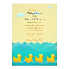 Ducks in a Row Baby Shower Invitation