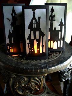 Set of 3 Halloween Decoration Haunted House di YesUMaystationery, $9.00
