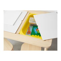 """FLISAT"" Children's Table (from IKEA; idea for Sensory Table!!!)"