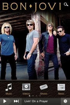 Bon Jovi's Official Android Application featuring news, music, photos, videos & more! Stay connected with all the latest updates from Bon Jovi on your Android. Sound Of Music, New Music, Music Songs, Music Videos, Free Internet Radio, Rock Songs, Rock Music, Jon Bon Jovi, Teenage Years