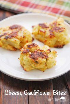 Cauliflower Bites - PATTIES (serves 8) Serving size: 2 cauliflower bites; Calories: 166; Total Fat: 12g; Carbohydrates: 6g; Sugars: 0g; Sodium: 374mg; Fiber: 3g; Protein: 11g