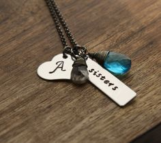 Hey, I found this really awesome Etsy listing at http://www.etsy.com/listing/158658087/sister-necklace-sibling-jewelry-hand