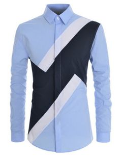 TheLees Men Slim Fit Colorblock Comfortable Stretchy Longsleeve Shirts Buy the Latest Brand Men Casual Shirts and Online Business Formal Shirt at fashion cornerstone. Discounts all season long. Nigerian Men Fashion, African Men Fashion, African Wear, African Shirts For Men, African Clothing For Men, Mens Fashion Wear, Suit Fashion, Casual Wear For Men, Casual Shirts For Men