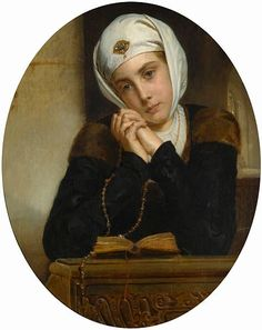 Lost in Thought, 1868 by Henry Guillaume Schlesinger (French painter) 1814 - 1893 Catholic Art, Catholic Saints, Roman Catholic, Religious Art, August Sander, Albert Bierstadt, Alphonse Mucha, St John Vianney, Austin Osman Spare