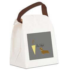 Dog Pet Animal Lover Canvas Lunch Bag