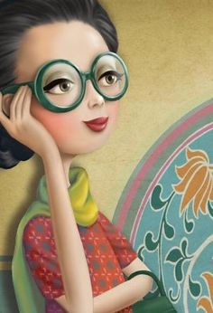 quenalbertini: Green glasses by Nina de San Marquis, Monica Crema, Movie Theater Snacks, Baby Boy Hairstyles, Whimsical Art, Cute Illustration, Clipart, Cartoon Art, Cute Art