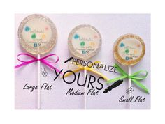 6 Personalized Lollipops  Personalized by lollitukisweets on Etsy