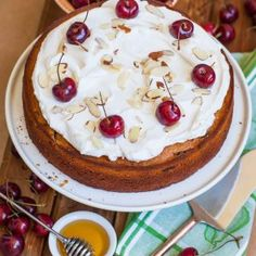 Honey Cherry Cake