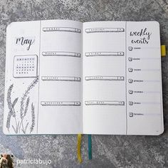 May bullet journal spread. Simple and easy but very effective. An inspiration for bullet journal layouts for May. #bulletjournal #ihavethisthingwithbujo